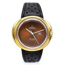 Vintage Omega De Ville Dynamic Automatic Date Watch Chocolate Dial Men's