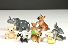 Lot #9 Hagen Renaker Miniature Bear, Elephant, Dog, Skunk, Deer, Duck Figurines