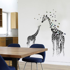 Giraffe butterfly Removable Wall Sticker Decal Art Vinyl Home Kids Room Decor p
