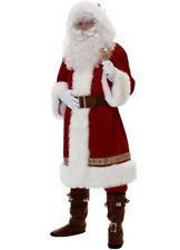 Adult Mens Super Deluxe Father Christmas Santa Claus Suit Fancy Dress Costume