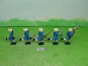 vintage britains lead soldiers recast arabs running collectable toy models 1827