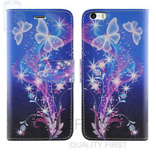 Flip Wallet Leather Cover Case for Apple iPhone Models Screen Protector Ultra Butterfly I Phone 5 5s