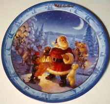 "1994-The Bradford Exchange-Scott Gustafson-Santas On His Way""Checking It Twice"""
