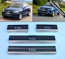 VW Touareg Mk2 TDi (Released 2010) Stainless Sill Protectors / Kick Plates