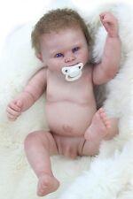 """Reborn Baby Doll Boy Full Body Silicone Vinyl 22"""" Washable Dolls + Clothes"""