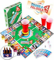 DRINK-A-PALOOZA Board Game: Fun Drinking Games for Adults & Game Night Party