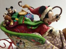 Jim Shore Disney Traditions, Christmas, Mickey Mouse/Pluto Laughing All the Way