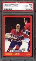 1973-74 O-PEE-CHEE #56 JACQUES LEMAIRE PSA 8 CANADIENS HOF  *CG3127