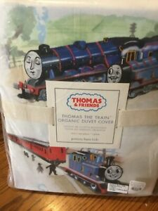 Pottery Barn Kids ~ Thomas The Train & Friends Twin Duvet Cover ~ NWT