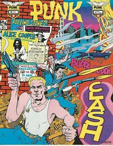 PUNK Magazine #17 The Clash Joe Strummer David Johansen Alice Cooper Niagara