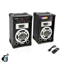 800 Watt Stereo Speaker System USB SD Audio Radio AUX Input BBQ Block Party DJ