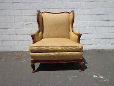 Armchair Antique Chair Bergere Traditional Hollywood Regency Wing Back Seating