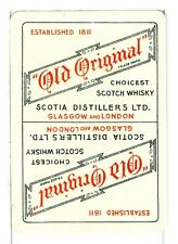 """Single Vintage Wide Playing Card, """"Old Original"""" Scotch Whisky"""