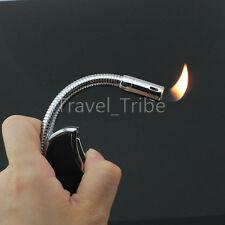 Long Pipe Lighter Refillable Soldering Butane Gas Jet Torch Flame with LED light
