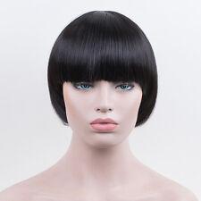 Bowl Cut Extreme bob Hair Style Mushroom Head black Wig Fashion Women Girl Wigs