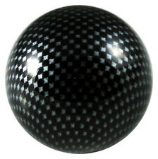 Carbon Fiber Arcade Stick Ball Top Sanwa Semitsu Mad Catz Hori Joystick - Black