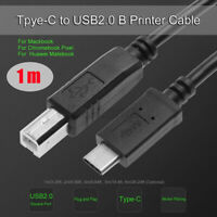 1m USB-C USB 3.1 Type-C USB-C To USB 2.0 Printer Cable Cord Adapter For