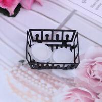 1:12 Dollhouse miniature kitchen metal rack plastic dish plates  JC,a