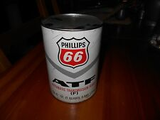 Vintage Full Cardboard 1qt Can Phillips 66 Type F Automatic Tranny Fluid Oil Can