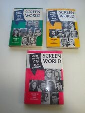 Very Fine John Willis SCREEN WORLD 1975,1976,1978 1st Editions with dust jackets