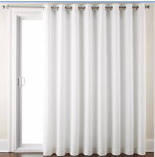 "Jcpenney Homeâ""¢ Quinn Basketweave Patio Panel Cool White 100"" X 95"""