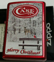Zippo Christmas CASE Lighter NEW IN BOX MNT 2013 RARE Candy Apple Red