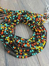 Tummy Beads, African Waist Bead Multi-Colored Waist Beads, Weight-loss tracker,