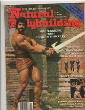 NATURAL BODYBUILDING muscle magazine/Lou Ferrigno from Hulk to Hercules 2-83