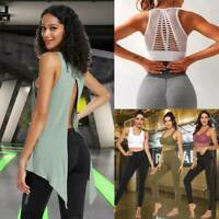 Womens Yoga Suit Crop Tops Pants Set Leggings Sports Fitness Stretch Gym Outfit