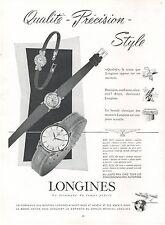 ▬► PUBLICITE ADVERTISING AD Montre Watch LONGINES