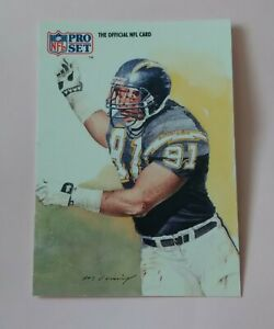 AMERICAN FOOTBALL CARD PRO SET 1991 # 421 ALL NFC TEAM LESLIE ONEAL LB CHARGERS