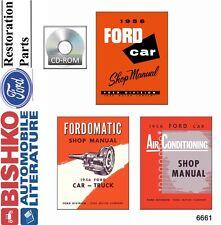 1956 Ford Shop Service Repair Manual Book CD Engine Drivetrain Electrical Guide