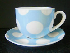 COLLECTABLE MAXWELL WILLIAMS LARGE BLUE POLKA DOT CUP & SAUCER