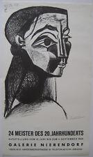 PICASSO PABLO AFFICHE 1968 SIGNÉE DANS PLANCHE SIGNED POSTER GALERIE NIERENDORF