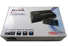 Novasonic 1000W Waterproof Bluetooth 4-Channel Stereo Amplifier Marine, Boat