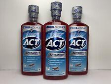 3Act Anticavity Fluoride Mouthwash, Cinnamon Flavor, Zero Alcohol, 18 oz. Each