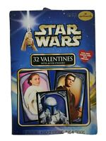 Hallmark 2002 Star Wars Attack of Clones 32 Valentine Cards and 48 Fun Stickers