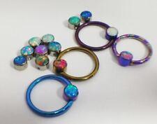 Titanium, Opal Replacement Bead- 4mm