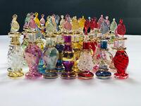 "Lot of 60 Tiny Hand blown Egyptian perfume Decorative Pyrex glass bottles 2"""
