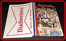 1985-86 DETROIT PISTONS BUDWEISER BASKETBALL POCKET SCHEDULE ISIAH THOMAS COVER