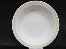 "Bristile / Wembley ware - Rimmed Bowl (7 3/4"") brown geometric pattern"