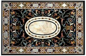Marble Dining Table Top Mosaic Art Hallway Table for Home Decor 48 x 72 Inches