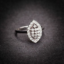 Stunning 0.38 Cts Round Brilliant Cut Diamonds Anniversary Ring In Fine 14K Gold