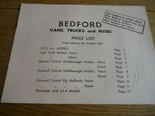 BEDFORD VANS TRUCKS AND BUSES  PRICE LIST  BROCHURE NOV 1972.jm