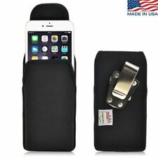 Turtleback iPhone 6 Plus Black Nylon Pouch Holster Metal Clip Fits Spigen Case