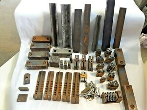 Letterpress Printers items icluding quoins, misc typesetting