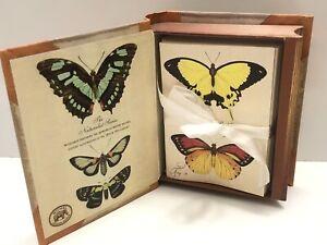 2006 Michel Design Works Butterflies Book Box Notecards - 20 Cards & Envelopes
