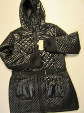 Belted Hooded Puffer Coat Olive 2XL
