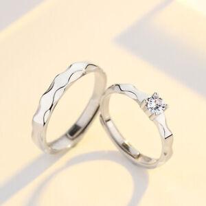 2 Partnerringe Wellen echt Silber 925 Ring Trauringe Freundschaftsringe