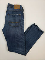 American Eagle Men Jeans Size 32x34 Slim Straight Leg Blue Denim Jean Distressed